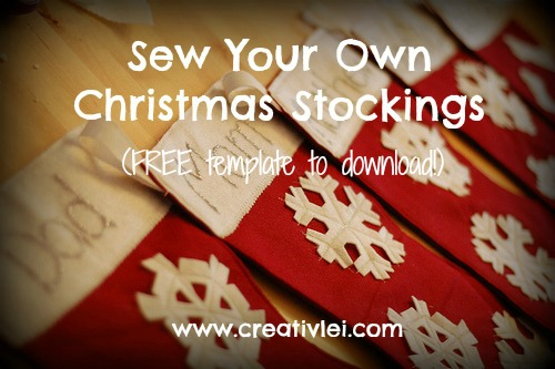 sew your own christmas stockings