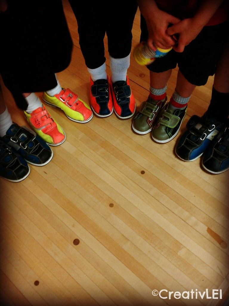 lots of little bowling shoes