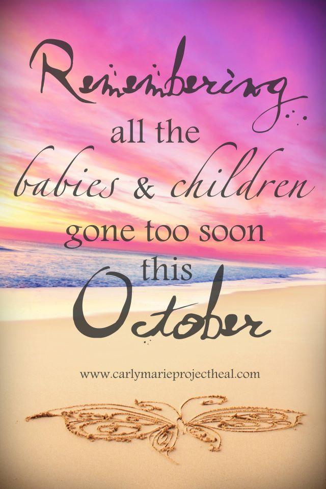 October, Again... (Infant Loss Awareness)