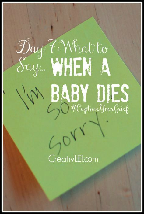 Looking for the right thing to say to a friend who has lost a baby? There are appropriate responses to baby death. Here's the very basics.