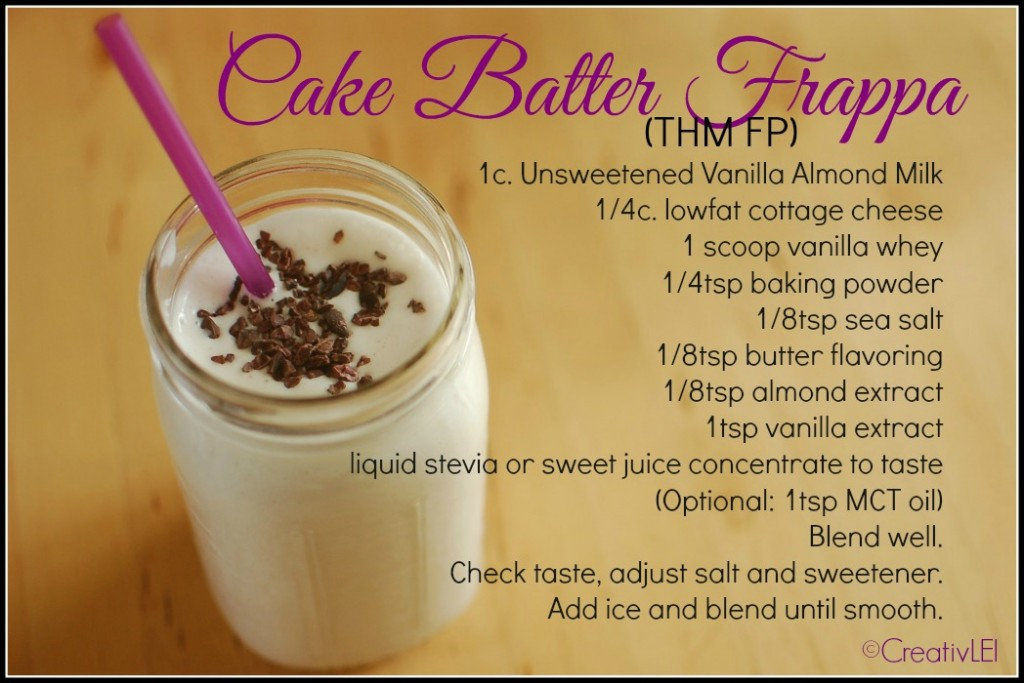 Cake Batter FSF recipe (THM FP)
