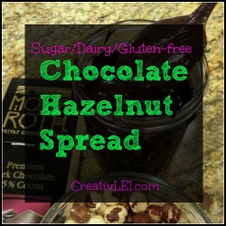 sf/gf/df chocolate hazelnut spread