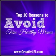 reasons to avoid trim healthy mama
