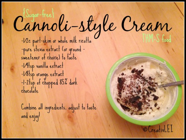 sugar free cannoli cream recipe