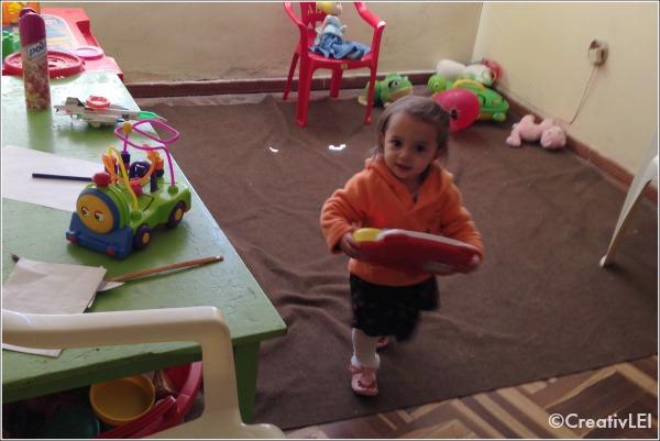 Annalise in the nursery at Luz de Grazia