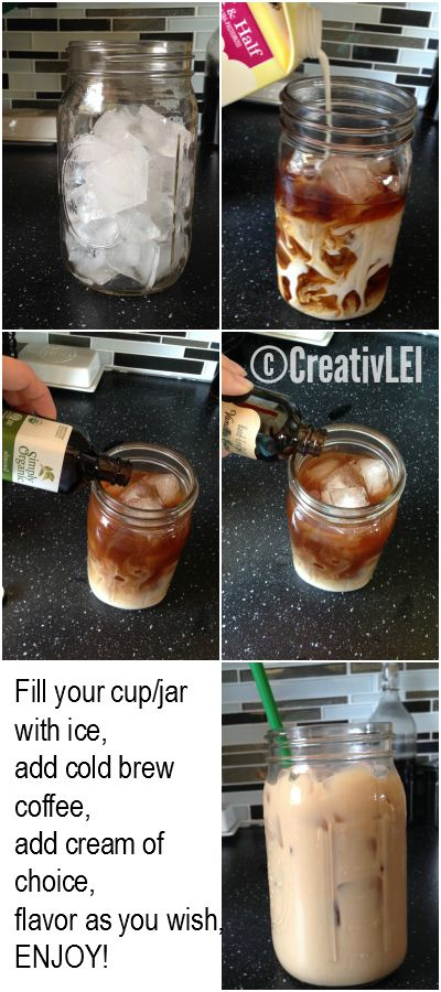 Flavor your cold brew coffee any way you enjoy it, save money by making it at home!