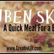 Reuben skillet meal