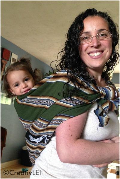 babywearing with a Peruvian manta