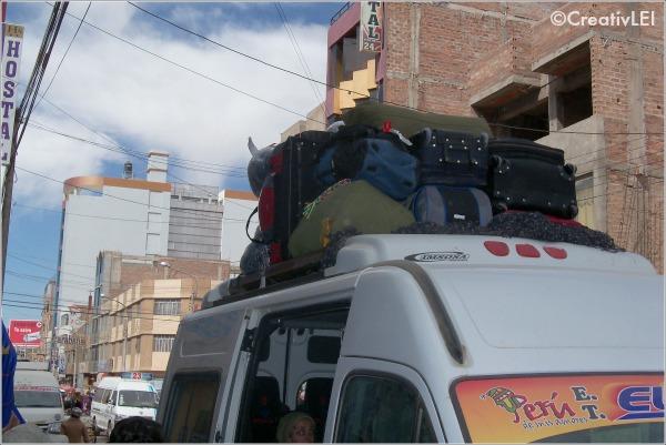 loaded van heading to Chupa
