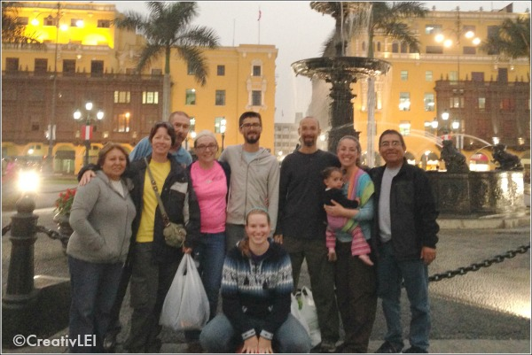 our team with our missionaries in Lima