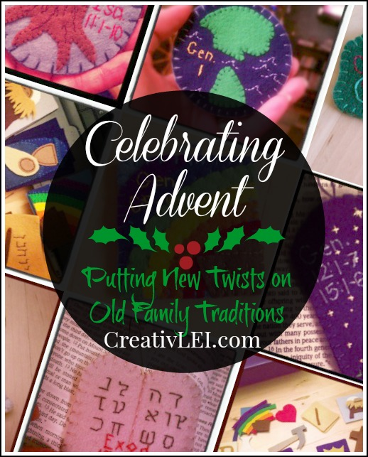 Celebrating Advent with a Jesse Tree and other creative twists on old traditions. -by CreativLEI