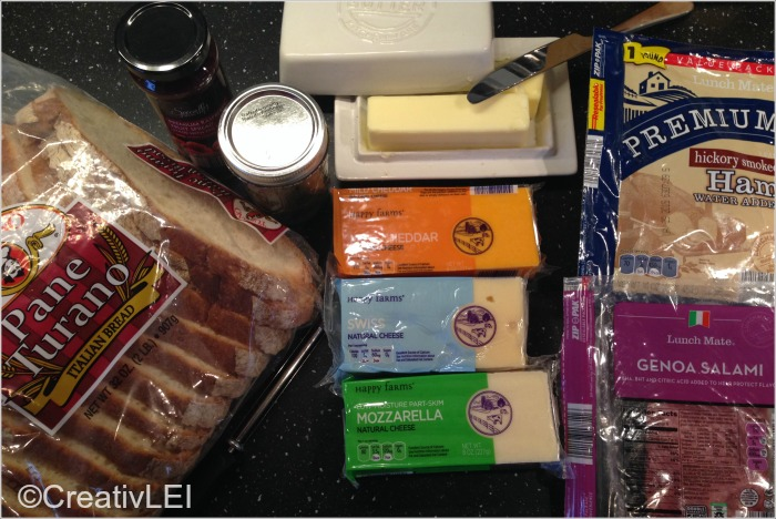 Ordinary ingredients for gourmet tasting grilled cheese  CreativLEI.com