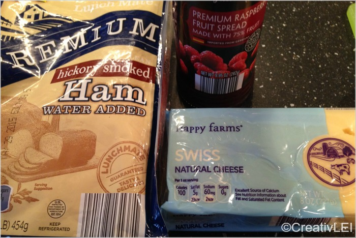 ham swiss and jam for grilled cheese