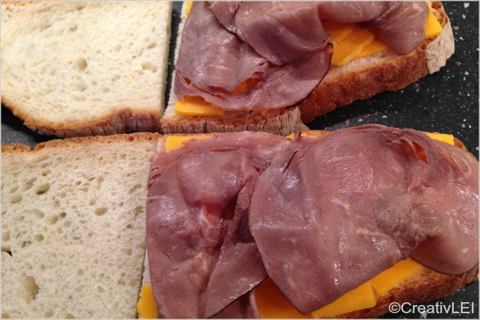 roast beef and cheddar grilled cheese