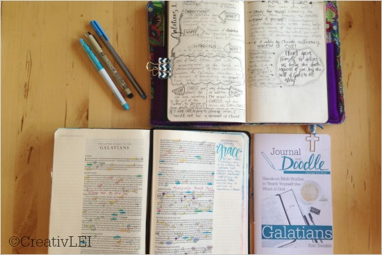 Galatians journal and doodle bible study