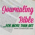 Journaling Bible, for More than Art  CreativLEI.com