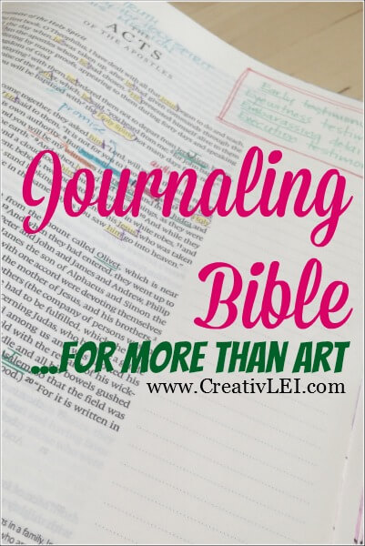 Journaling Bible… More than Art