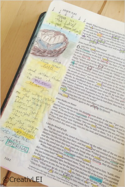 Journaling bible margin art CreativLEI.com