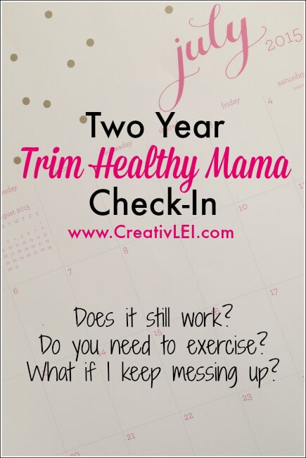 My Health and Fitness: 2 Year Trim Healthy Mama Check-In and Challenge
