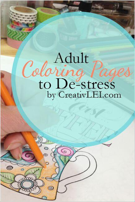Adult Coloring Pages to De-stress!