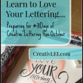 Do you want to learn more about creative lettering. #31days of FREE hand-lettering tips and resources! | CreativLEI.com