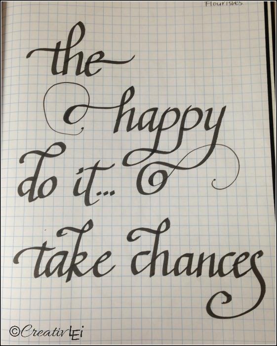 A page of flourishing practice.  CreativLEI.com