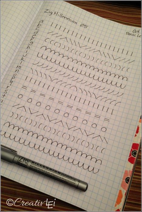 A page of penmanship exercises to improve handwriting. -CreativLEI.com