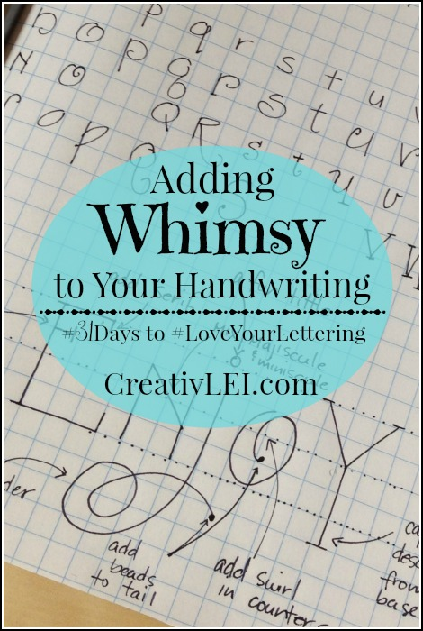 Working to improve your handwriting and creative lettering? Free lettering series at CreativLEI.com