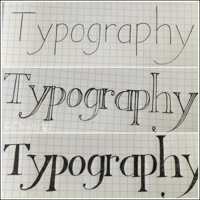 Print or cursive handwriting can be used for sylized fonts and creative lettering. -CreativLEI.com