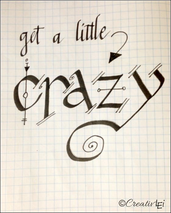 Adding whimsy to calligraphy with a fine point pen! CreativLEI.com