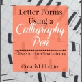Practice basic letter forms before studying calligraphy. -CreativLEI.com
