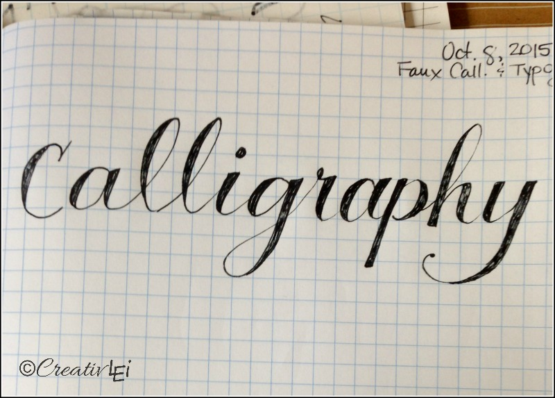 The look of calligraphy with a regular pen or pencil and your handwriting. -CreativLEI.com