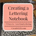 Use a quad rule composition book for a good practice notebook for handwriting and penmanship. #LoveYourLettering | CreativLEI.com