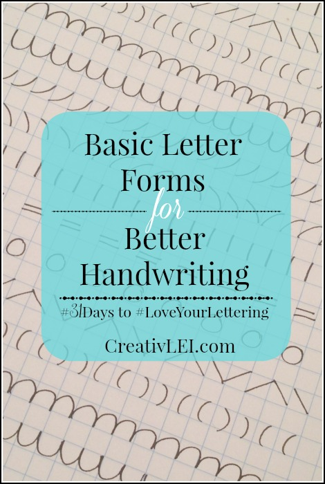 Improve your handwriting by practicing the foundations of letters. -CreativLEI.com