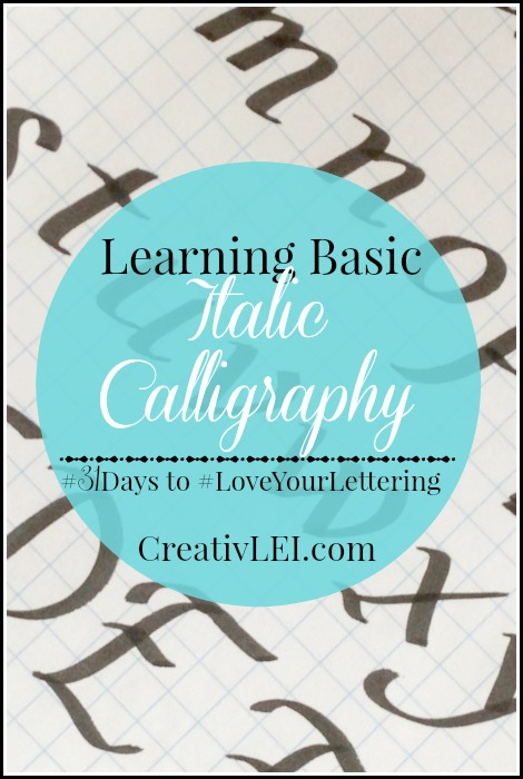 Learning Basic Italic Calligraphy CreativLEI.com