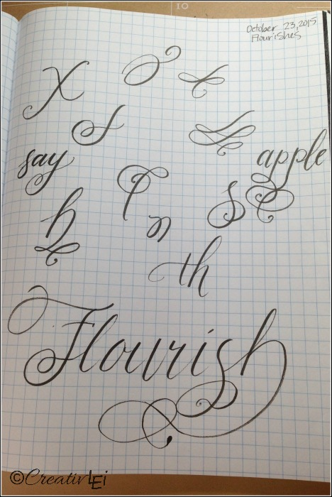 Practicing different flourish styles helps to improve the flow. CreativLEI.com