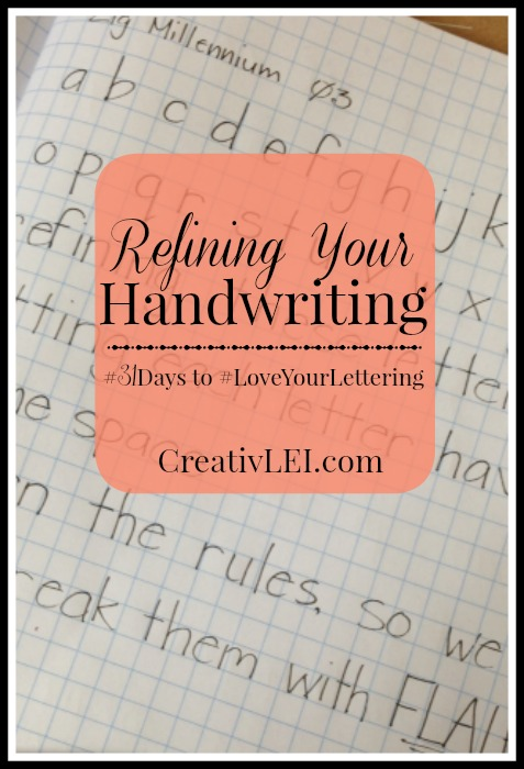 Refining Your Handwriting, get back to basic penmanship CreativLEI.com