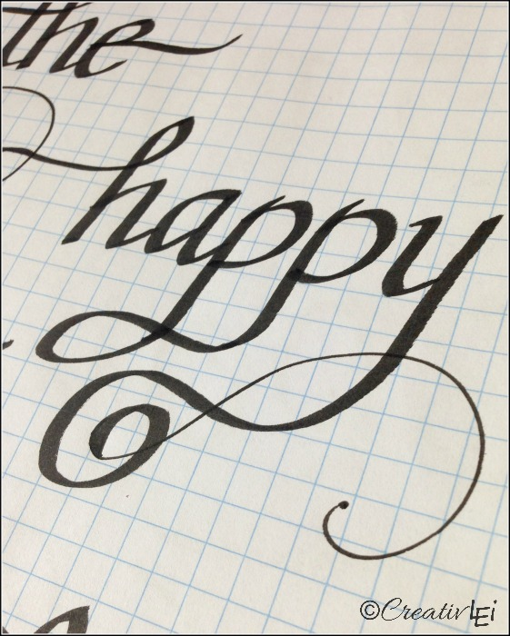 Use a fine point pen to add a larger loopy flourish. CreativLEI.com