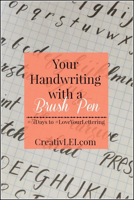 Using a brush pen with your own handwriting. CreativLEI.com