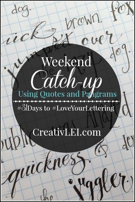 Weekend catch up using pangrams. CreativLEI.com