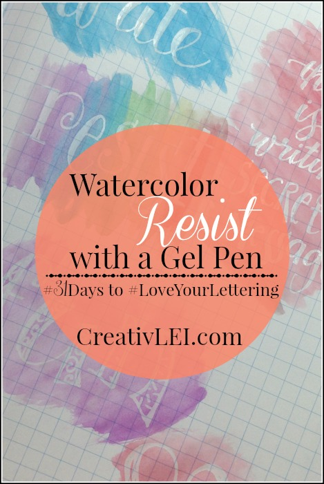 Creating a watercolor resist look is easy with one special little gel pen! CreativLEI.com