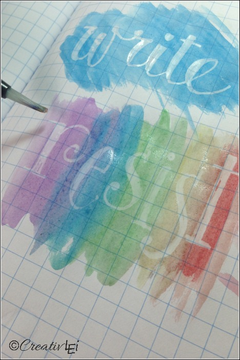 Have fun with this faux watercolor resist technique to create decorative word art. CreativLEI.com