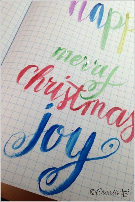 Having fun with watercolor creative lettering. CreativLEI.com