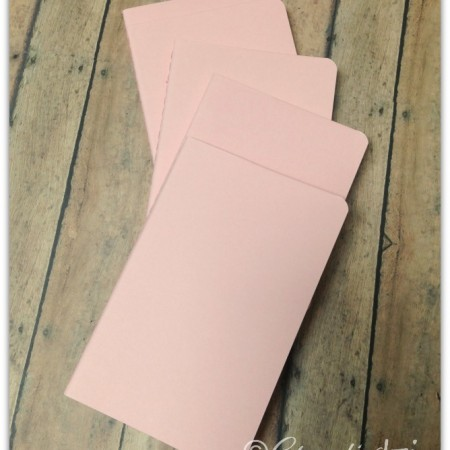 Peachy pink  pocket sized ruled Moleskine notebook with custom hand-lettering.  CreativLEI.com
