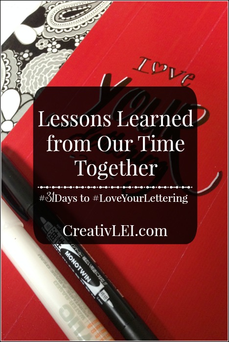 Lessons learned from writing a #31Days series. CreativLEI.com