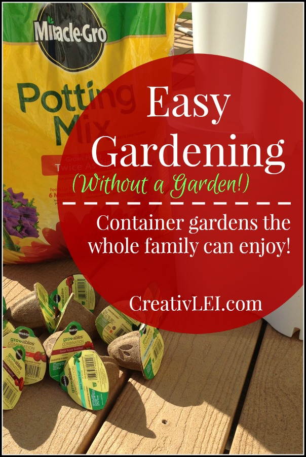 Easy Gardening Without a Garden