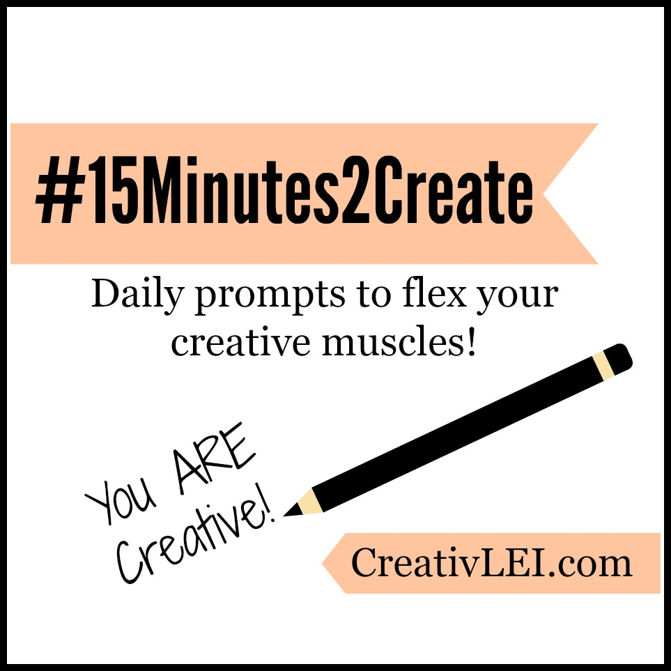Monthly Challenge #15Minutes2Create: June #justaletteraday