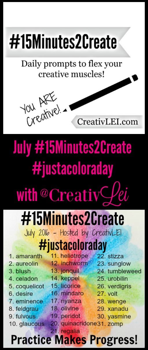 July #15minutes2create with @CreativLEI - #justacoloraday