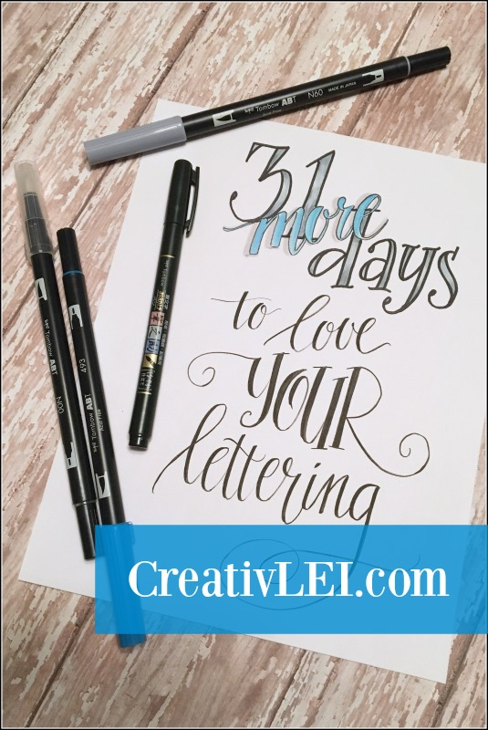 31 More Days to #LoveYOURLettering!