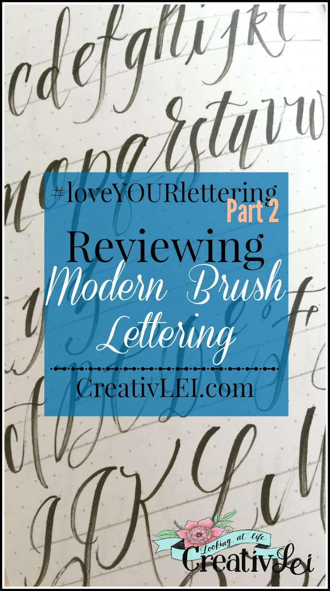 Reviewing Modern Brush Lettering
